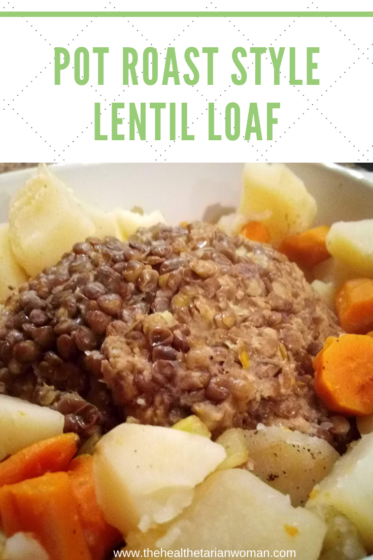 Pot Roast Style Lentil Loaf Cook In Oven, Crockpot or Pressure Cooker