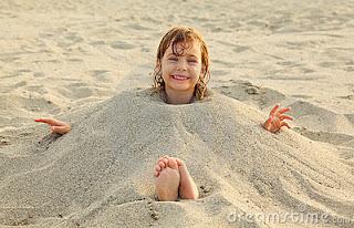 Enterrar na areia