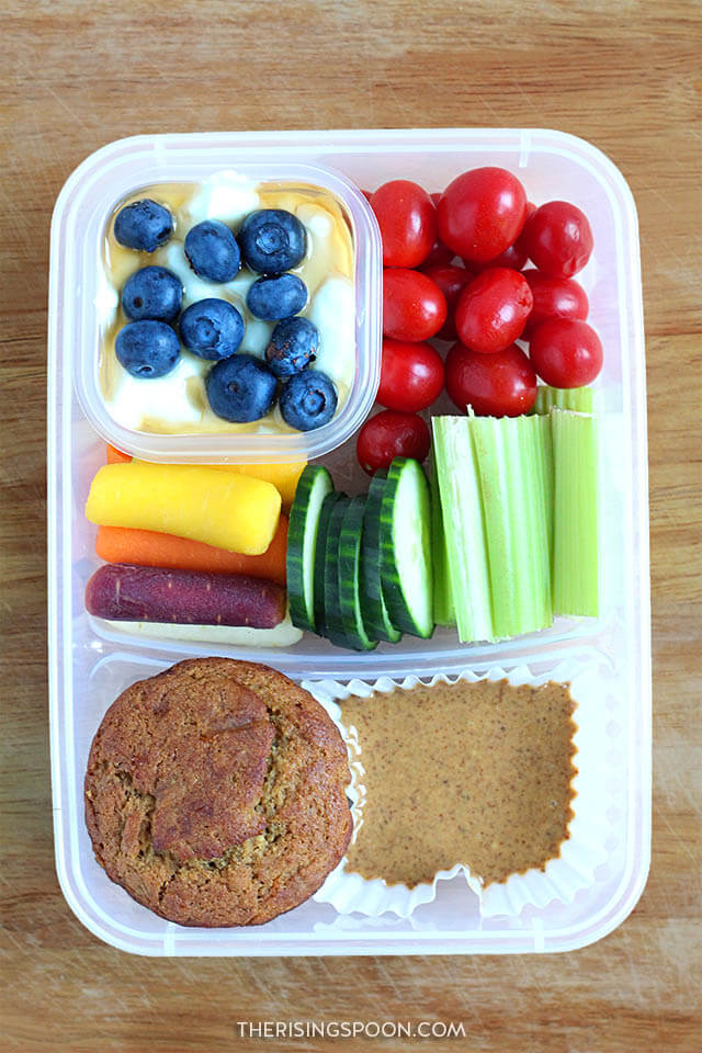 Healthy Make-Ahead Cold Lunch Idea (For Back to School & Work): Yogurt, Muffin & Nut Butter
