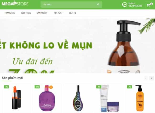 Template Blogspot bán hàng mỹ phẩm