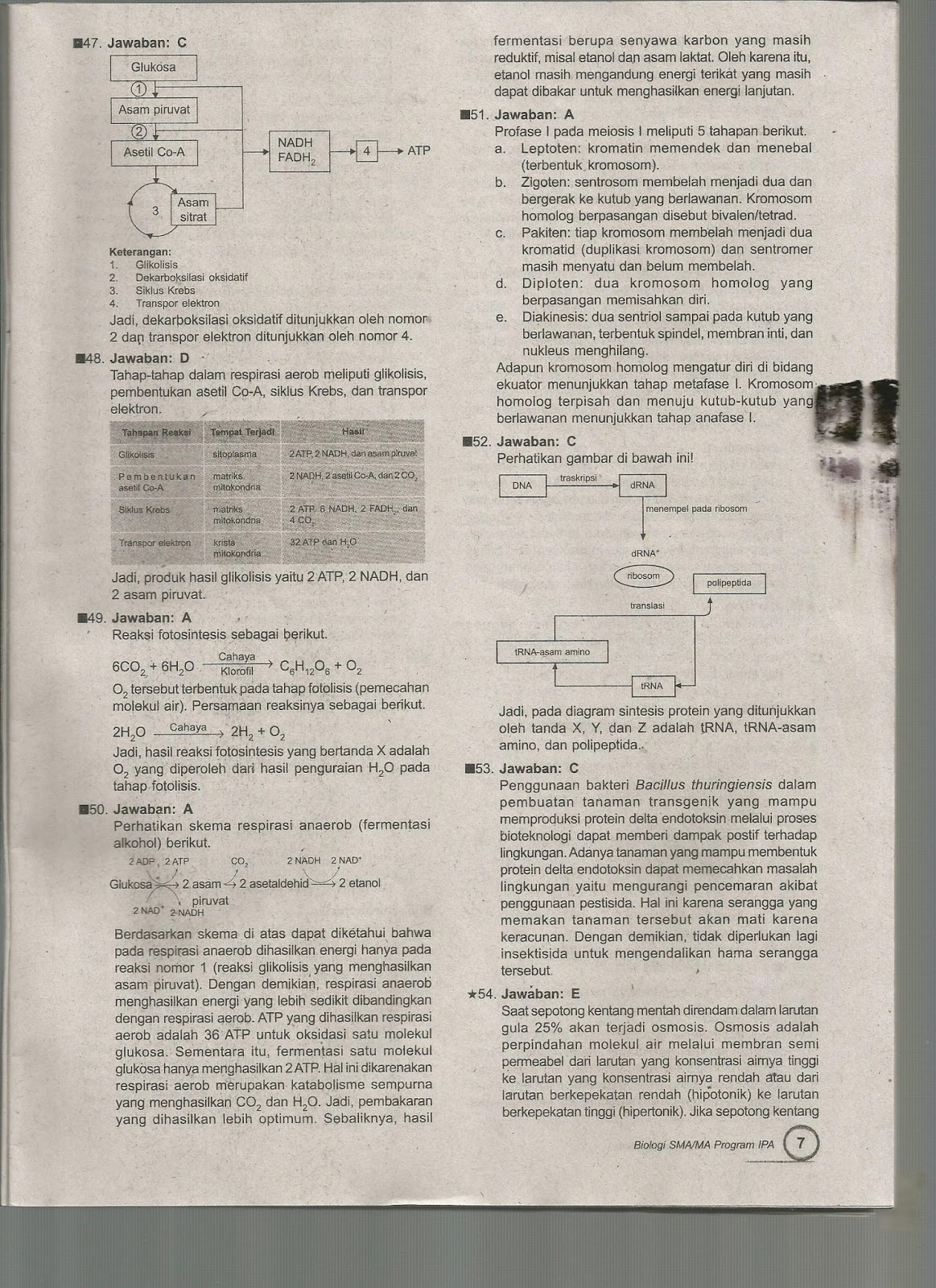 Biologi Gonzaga Prediksi Soal Un Biologi 2016 Sma Kelas Xii