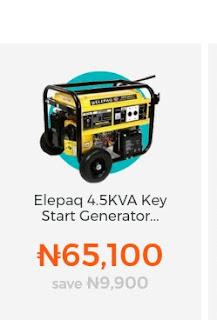 Elepaq 4.5KVA Key Start Generator