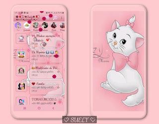 White Cat Theme For YOWhatsApp & Fouad WhatsApp By Suely