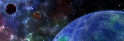 地球と暗黒惑星(ブラックホール?)