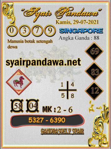 Gambar Syair Pandawa Sgp kamis 29 juli 2021