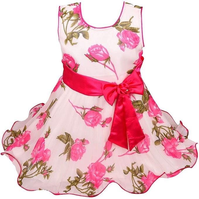 Wish Karo Baby Girls Georgette Frock Dress - (bx85)