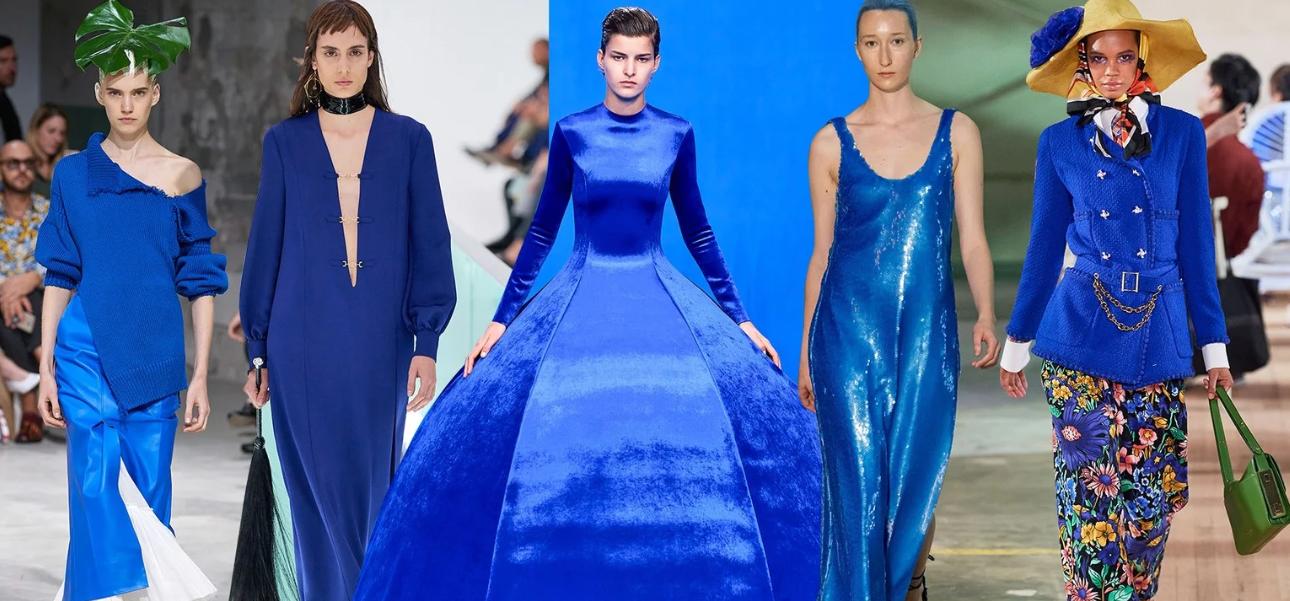 Blu classico colore tendenza primavera estate 2020