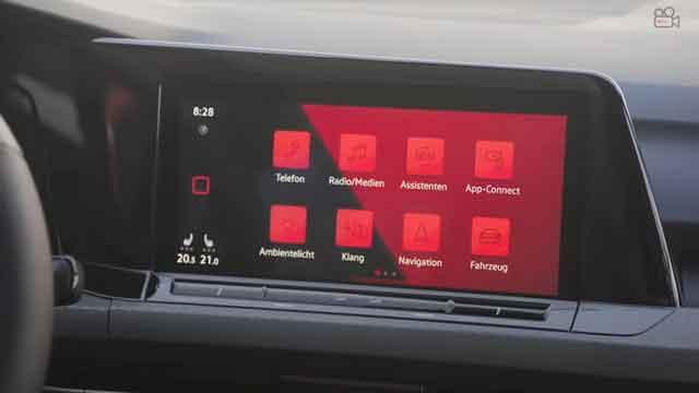 شاشة فولكس فاجن GTI 2021