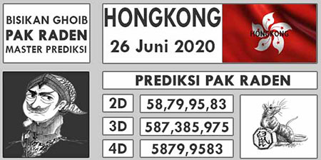 Prediksi Togel Hongkong Pak Raden Jumat 26 Juni 2020