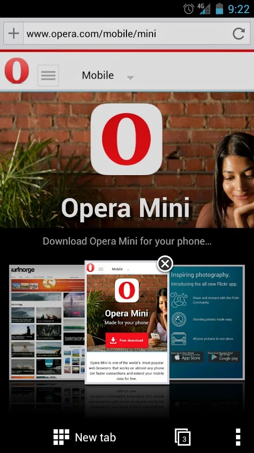 Opera Mini Private Tab