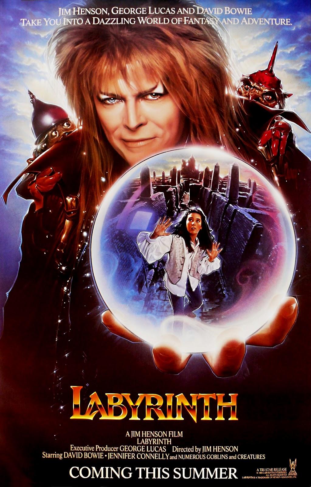 The Geeky Nerfherder: Movie Poster Art: Labyrinth (1986) Labyrinth 1986