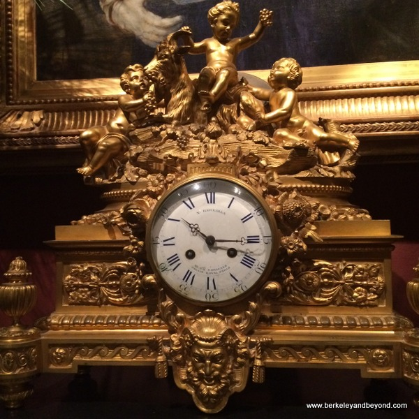 antique gold clock at Houmas House Plantation and Gardens in Darrow, Louisiana