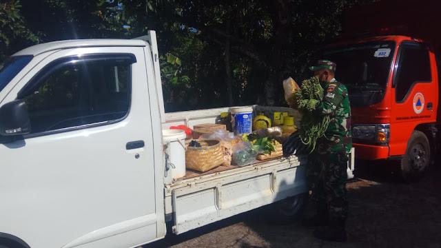 Rela belanja ke pasar demi ketersediaan stok logistik TMMD Reg 109