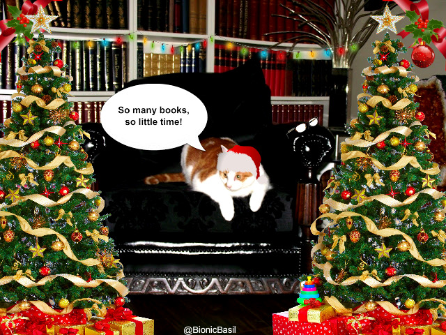 Amber Library Cat ©BionicBasil® Catmas Edition Banner
