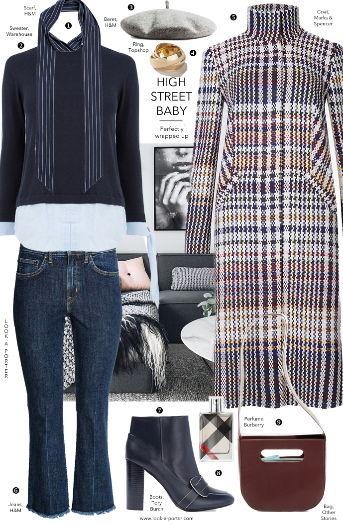 How to put together a stylish and budget-friendly outfit with best high street buys from Marks&Spencer, H&M, Other Stories and more for www.look-a-porter.com fashion & style blog