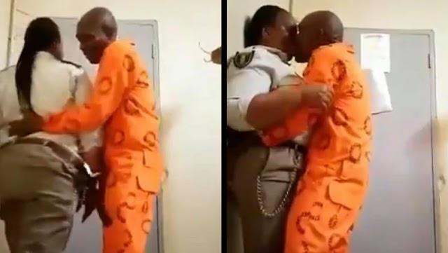 Female prison warder captured on camera having sex with prisoner