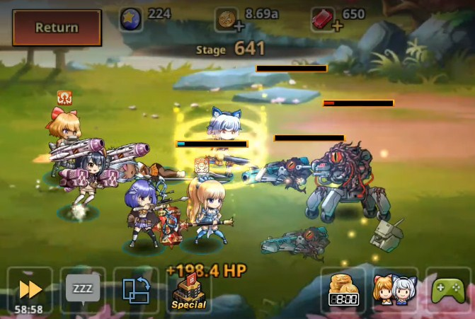 best idle game for android and ios Dungeon iDoll