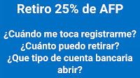 AFP 25%: cuándo registar mi solicitud,