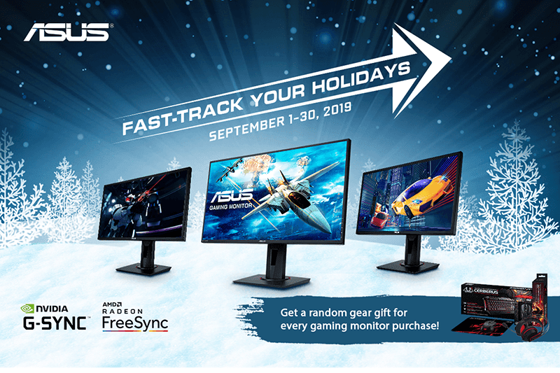 Get ASUS Gaming gear for free with ASUS VG Series gaming monitor purchases