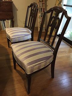 椅子の張り替え:生地<マニュエル・カノヴァス> 4785/05