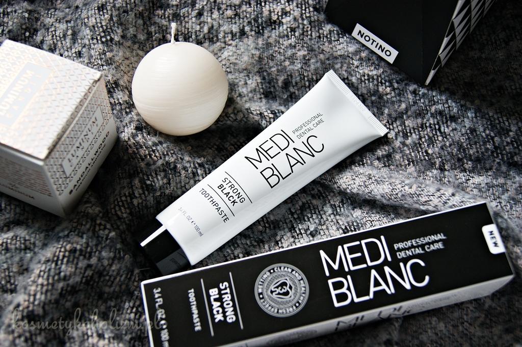 Czy bielsze zęby możemy osiągnąć za pomocą czarnej pasty, Medi Blanc Strong Black