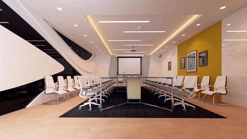 Mẫu thiết kế nội thất phòng họp đẹp phong cách thời thượng