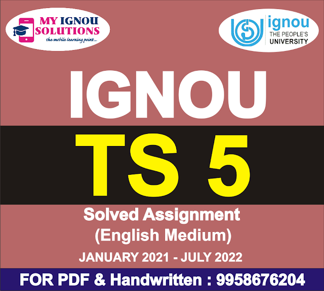 TS 5 Solved Assignment 2021-22