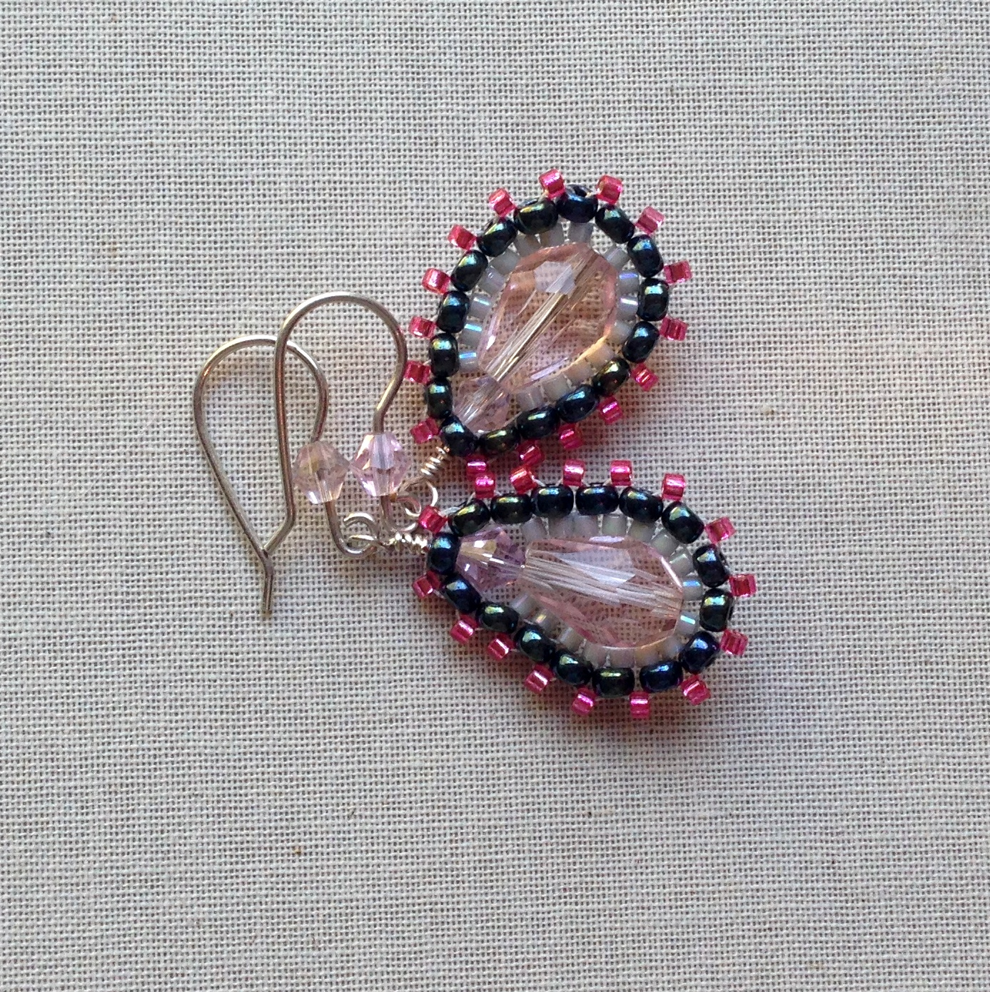 Brick Stitch Earrings, Miguel Ases Style