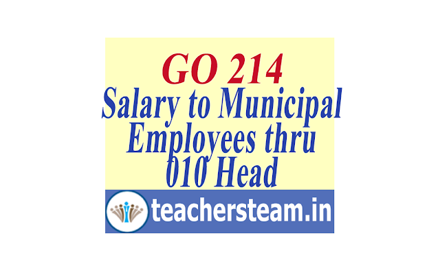 Payment of Salaries and pension to the Municipal Employees/Teachers and Non-Teaching staff of schools working in Municipalities/Corporations through treasuries under 010