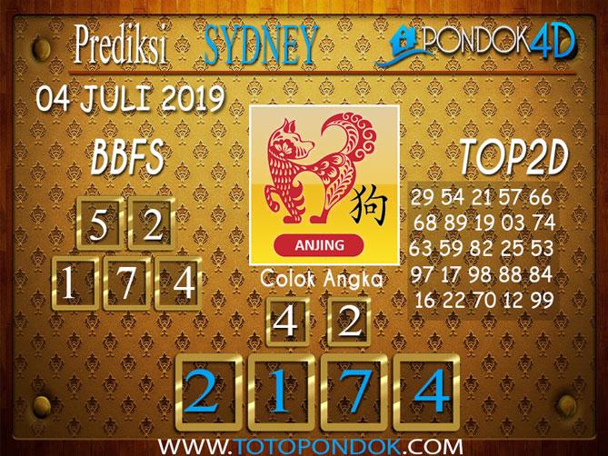 Prediksi Togel SYDNEY PONDOK4D 04 JULI  2019