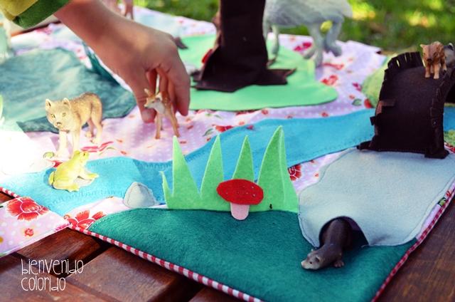 Spielteppich Nähen bienvenido colorido feenland zum mitnehmen