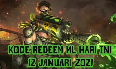 Kode Redeem Mobile Legends ML Terbaru 12 Januari 2021