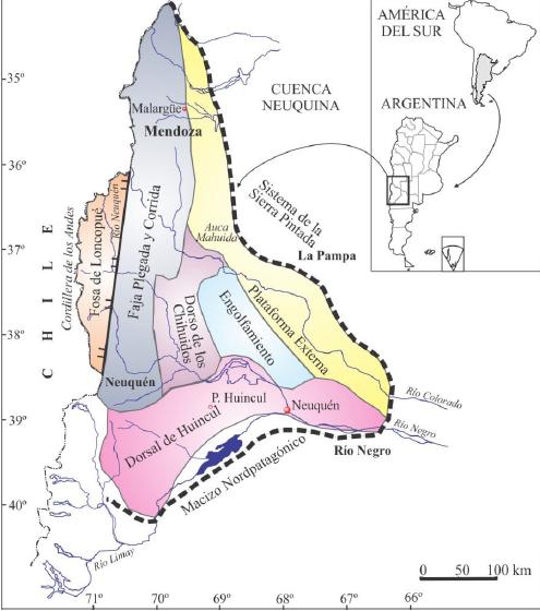 cuenca neuquina mapa unidades morfoestructurales