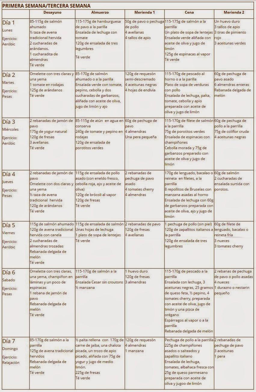 DIETA DR. PERRICONE PLAN 28 DIAS ~ ADELGAZAR BARRIGA Y