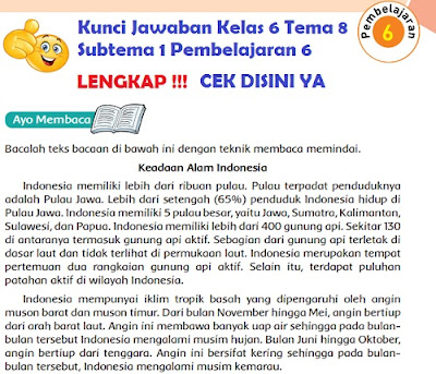 Kunci Jawaban Kelas 6 Tema 8 Subtema 1 Pembelajaran 6 www.simplenews.me