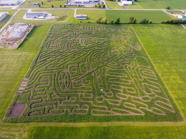 Family Fun at the Shipshewana Indiana Corn Maze + $1 coupon!