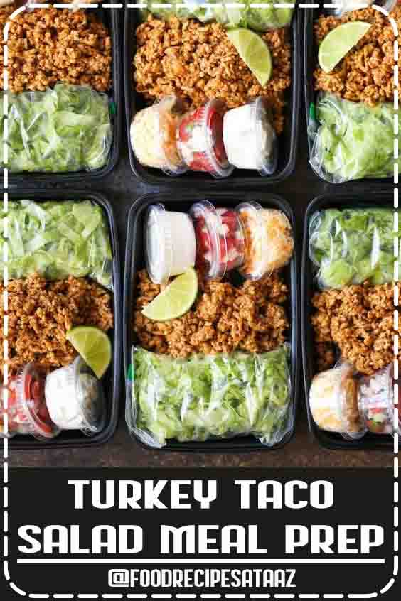 4.5 ★★★★★ | A much HEALTHIER take on Taco Tuesdays, except you are meal prepped for the entire week! Less calories and cheaper too! #HealthySnacks #Easy #Quick #LunchIdeas