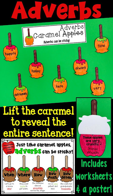 Adverbs Craftivity- including a worksheet and a bonus poster!
