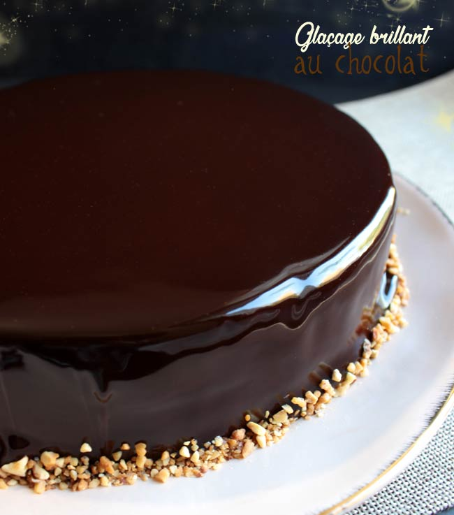 glacage miroir ultra brillant au chocolat
