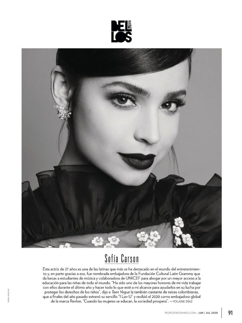 Sofia Carson Featured in People en Espanol - June 2020