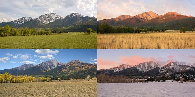 four seasons Mount Princeton Colroado 14er Bueana Vista