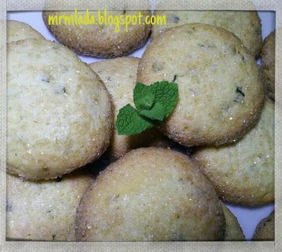 galletas de limón y hierbabuena