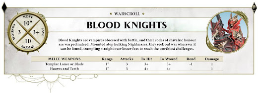 Blood Knights warscroll