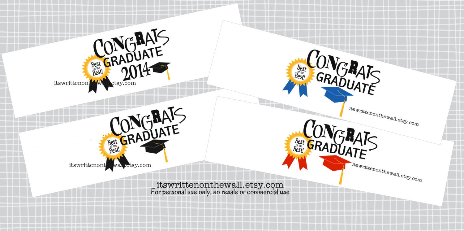 Its written on the wall what a fun way to package graduation 3 different sized gift tags are included in this printable they measure 3 2 and 15 you could use these tags on gifts other than this one too negle Images