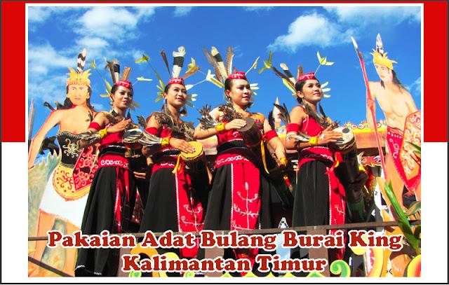 Gambar Pakaian Adat Bulang Burai King Kalimantan Timur