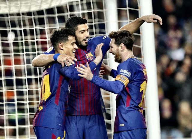 """Video Barcelona - Girona: Tuyệt đỉnh siêu sao, tưng bừng """"đánh tennis"""""""
