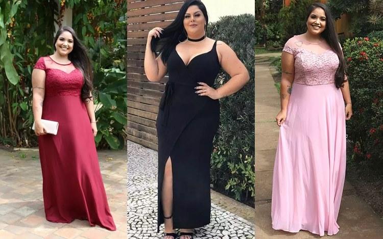 Shafa vestido de festa plus size