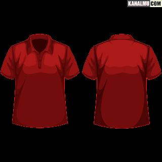 mentahan kaos polos merah maroon polo PNG - kanalmu