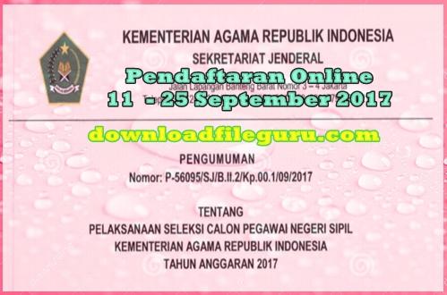 Info Penerimaan Seleksi Tes CPNS 2017 Kemenag RI