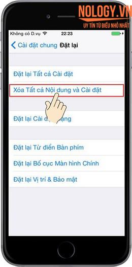 Sửa lỗi iphone 6 cảm ứng không nhận